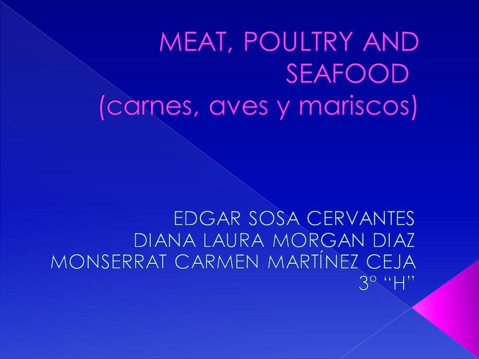  1.beef – carne de res 2. ground beef – carne molida 3.