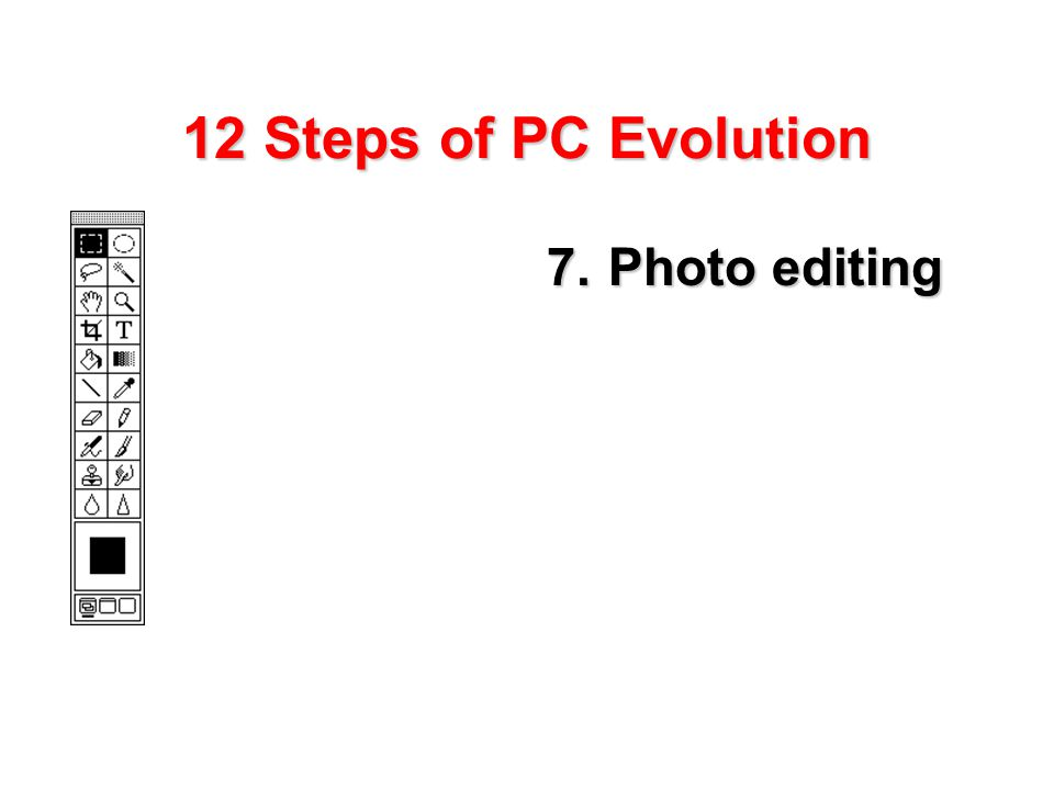 12 Steps of PC Evolution 7.Photo editing