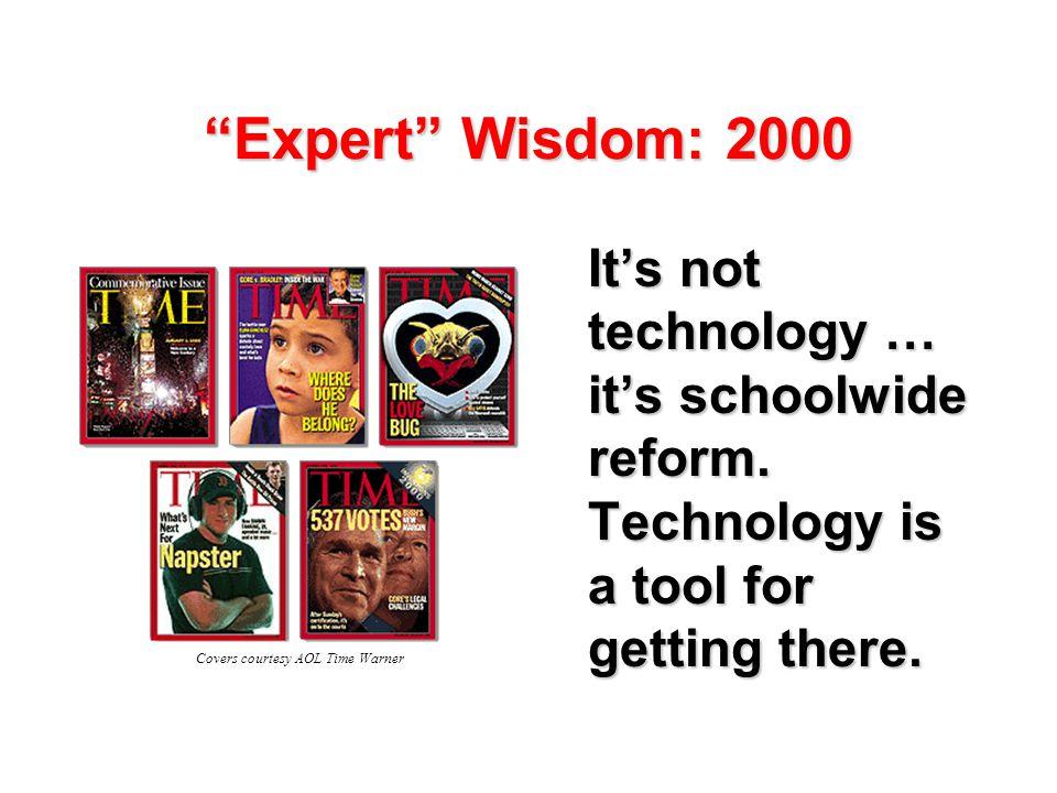 Expert Wisdom: 2000 It's not technology … it's schoolwide reform.