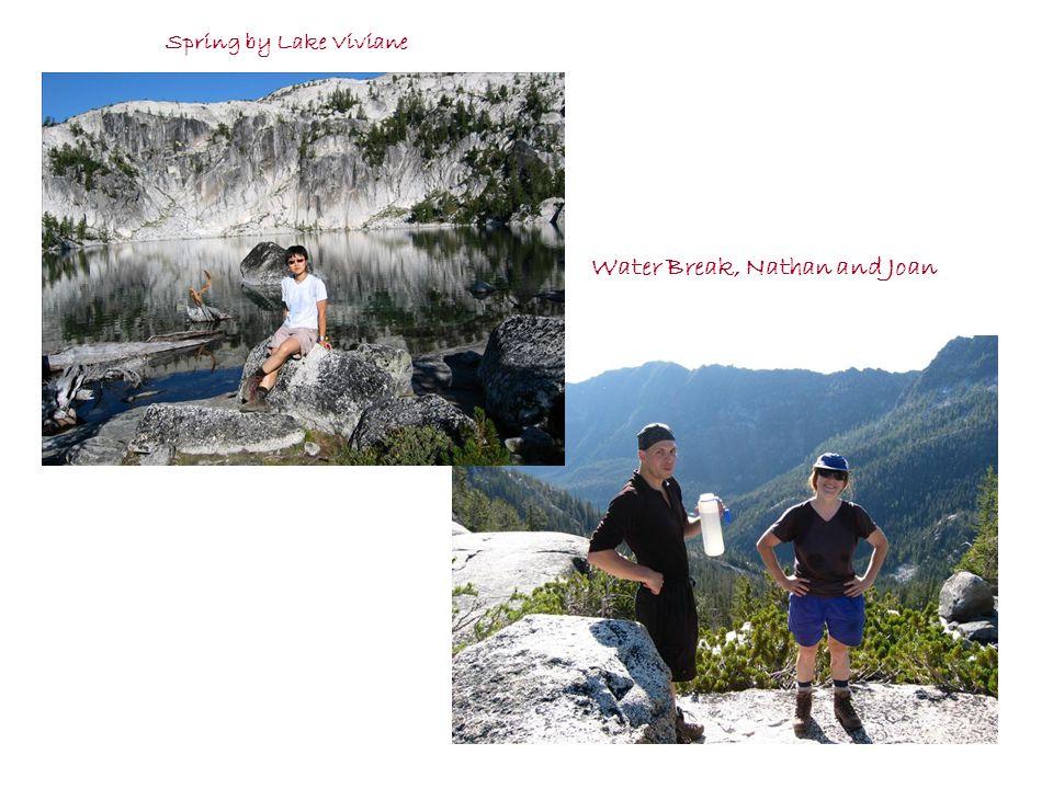 Spring by Lake Viviane Water Break, Nathan and Joan