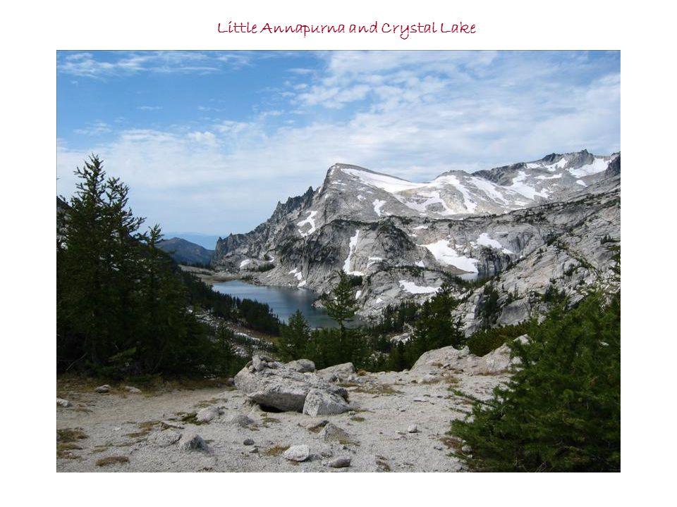 Annie at summit Leprechaun Lake and McClellan Peak photos taken by Bruce Frank