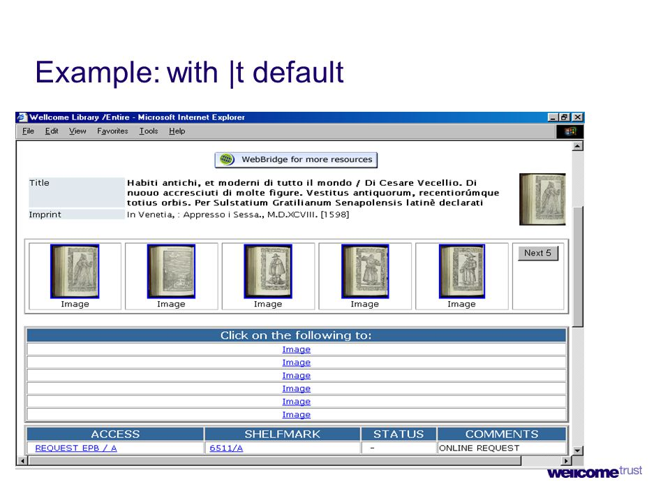 Example: with |t default