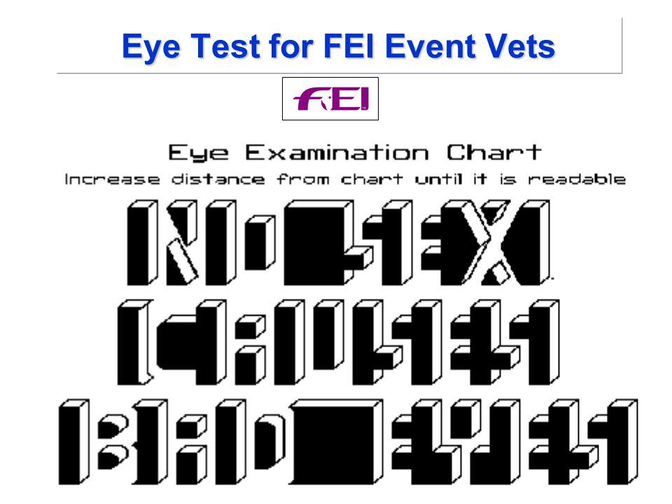 Eye Test for FEI Event Vets