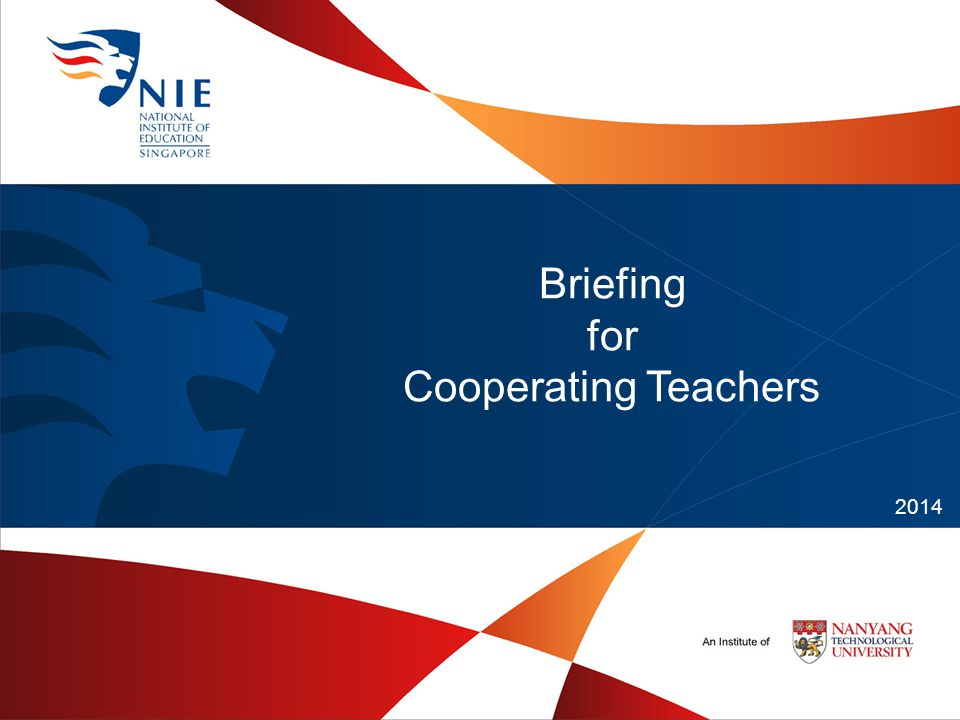 Briefing for Cooperating Teachers 2014