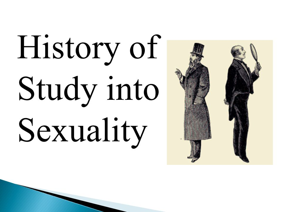 History of Study into Sexuality