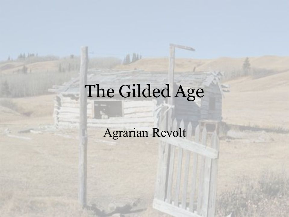 The Gilded Age Agrarian Revolt