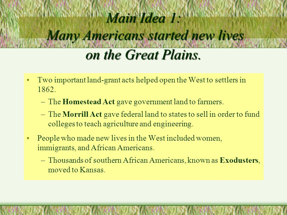Homestead Act - 1862