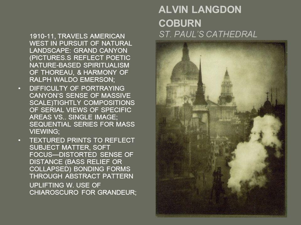 ALVIN LANGDON COBURN ST.
