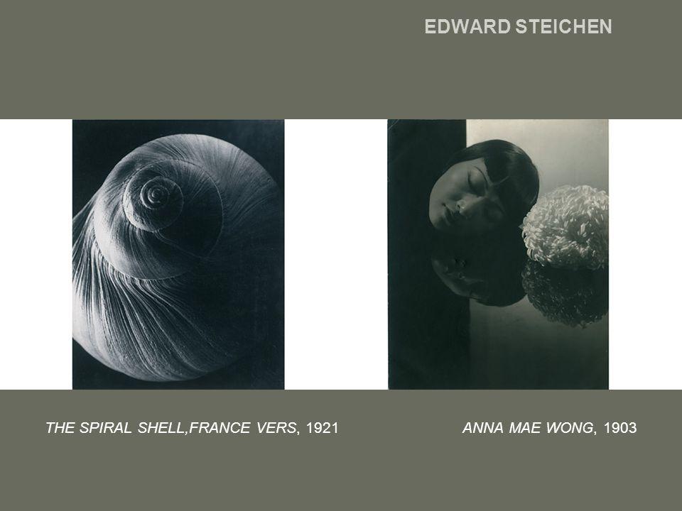 EDWARD STEICHEN THE SPIRAL SHELL,FRANCE VERS, 1921 ANNA MAE WONG, 1903