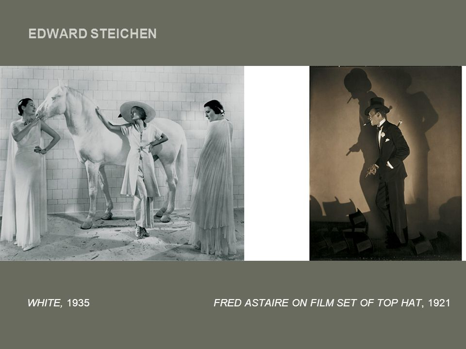 EDWARD STEICHEN WHITE, 1935 FRED ASTAIRE ON FILM SET OF TOP HAT, 1921