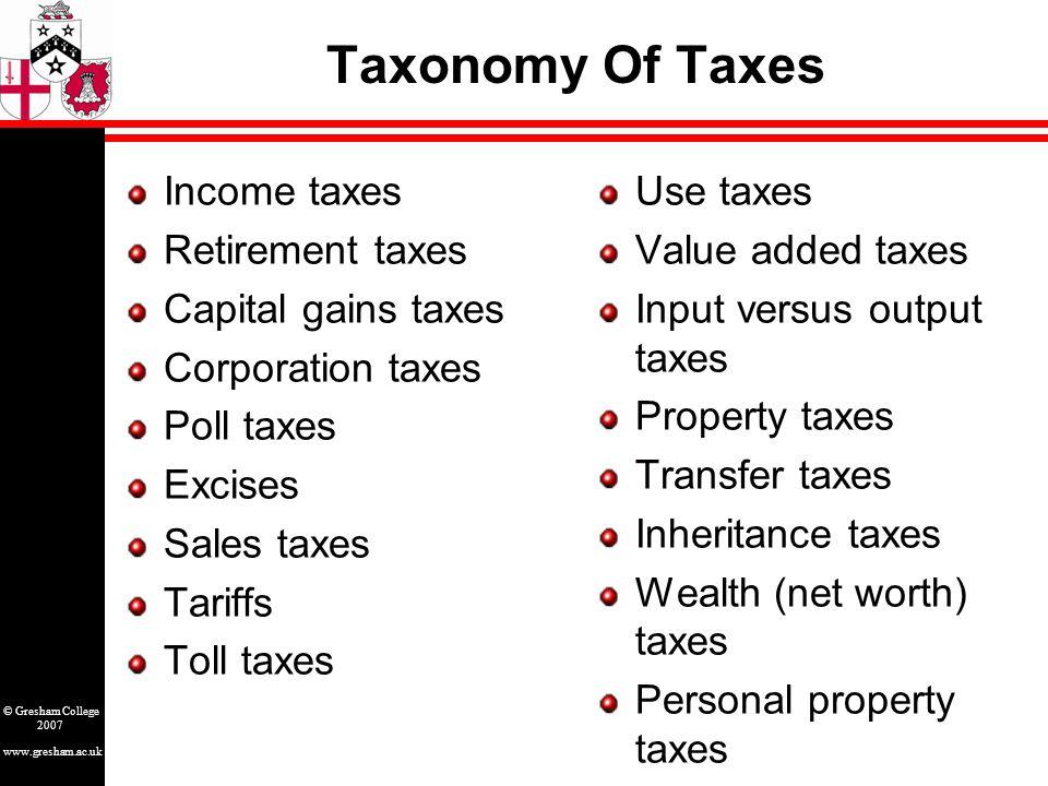 www.gresham.ac.uk © Gresham College 2007 Death Of Taxes.