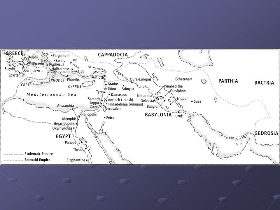 Under Pagan Rule Persian (until 331 B.C.) Greeks Alexander (331 – 323 B.C.) Alexander (331 – 323 B.C.) Ptolemies in Egypt (323 – 198 B.C.) Ptolemies in Egypt (323 – 198 B.C.) Seleucids in Syria (198 – 142 B.C.) Seleucids in Syria (198 – 142 B.C.) Israel's independence (142 – 63 B.C.) Rome (63 B.C.