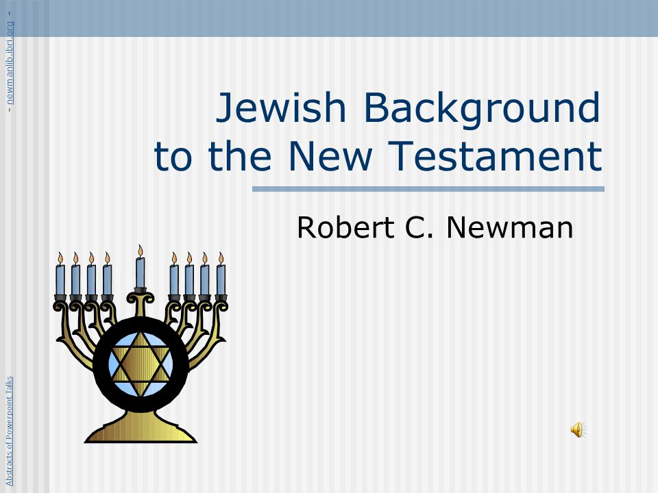The Intertestament Period Valuable to know something of this period, due to big changes between the OT and NT periods.