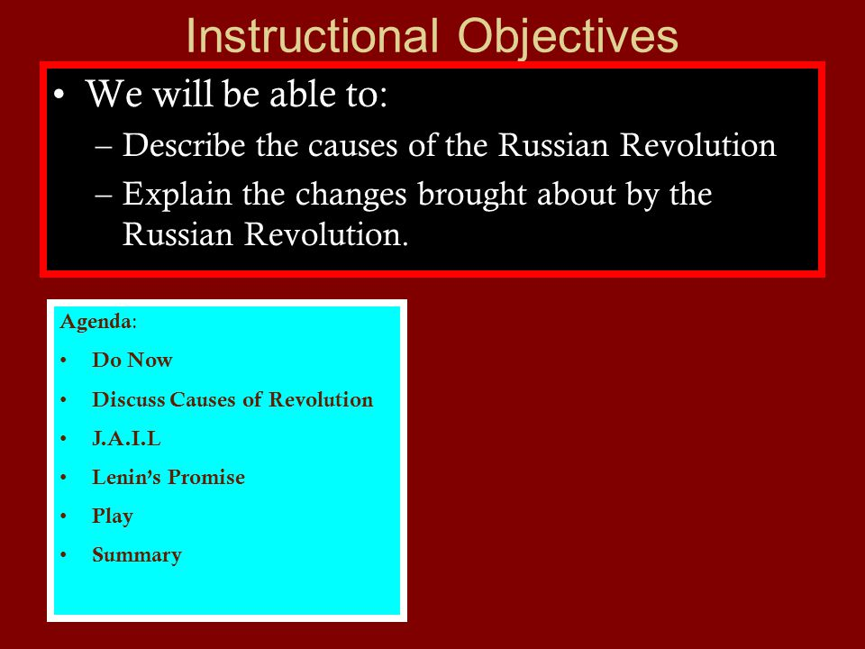 Effects –Russia becomes USSR (Soviet Union).The first communist country.