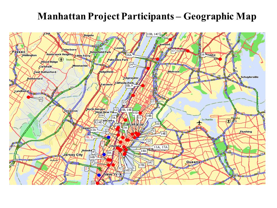 Manhattan Project Participants – Geographic Map