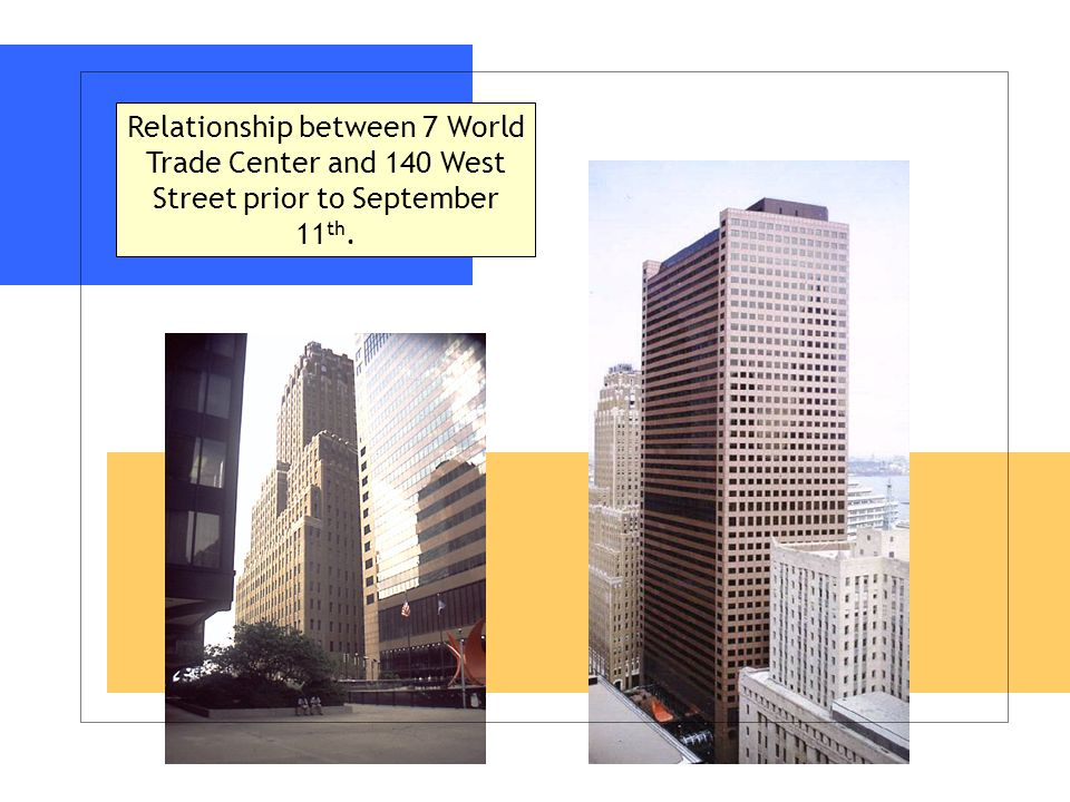 Relationship between 7 World Trade Center and 140 West Street prior to September 11 th.
