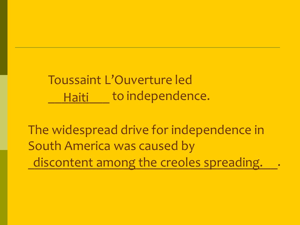 Which statement describes the results of Latin American independence.