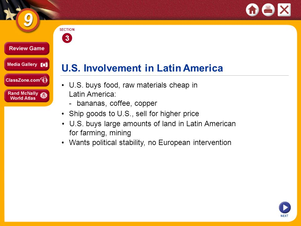 U.S. Involvement in Latin America U.S.