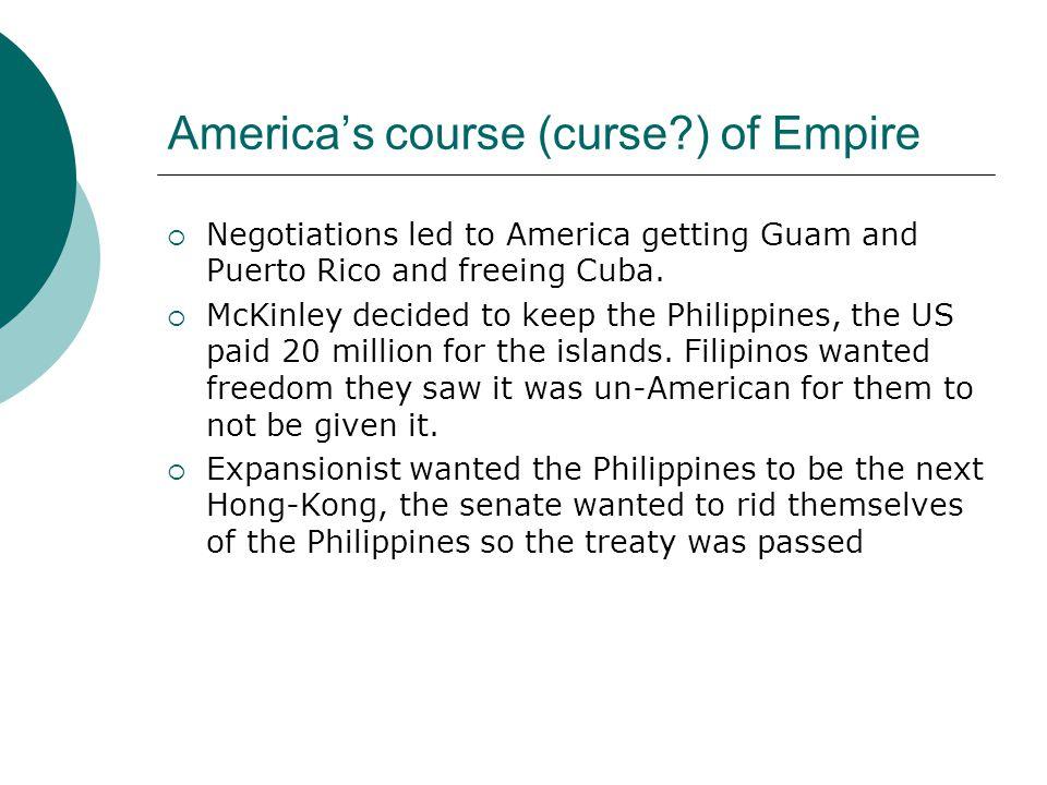 Perplexities in Puerto Rico & Cuba  Us transformed Puerto Rico.