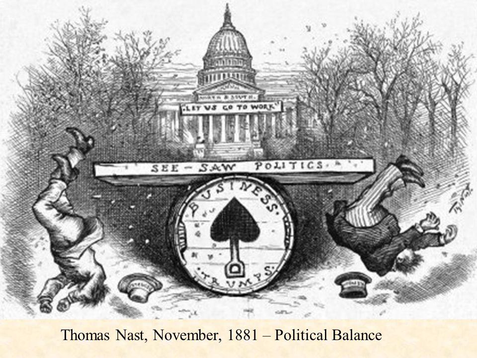 Thomas Nast, November, 1881 – Political Balance