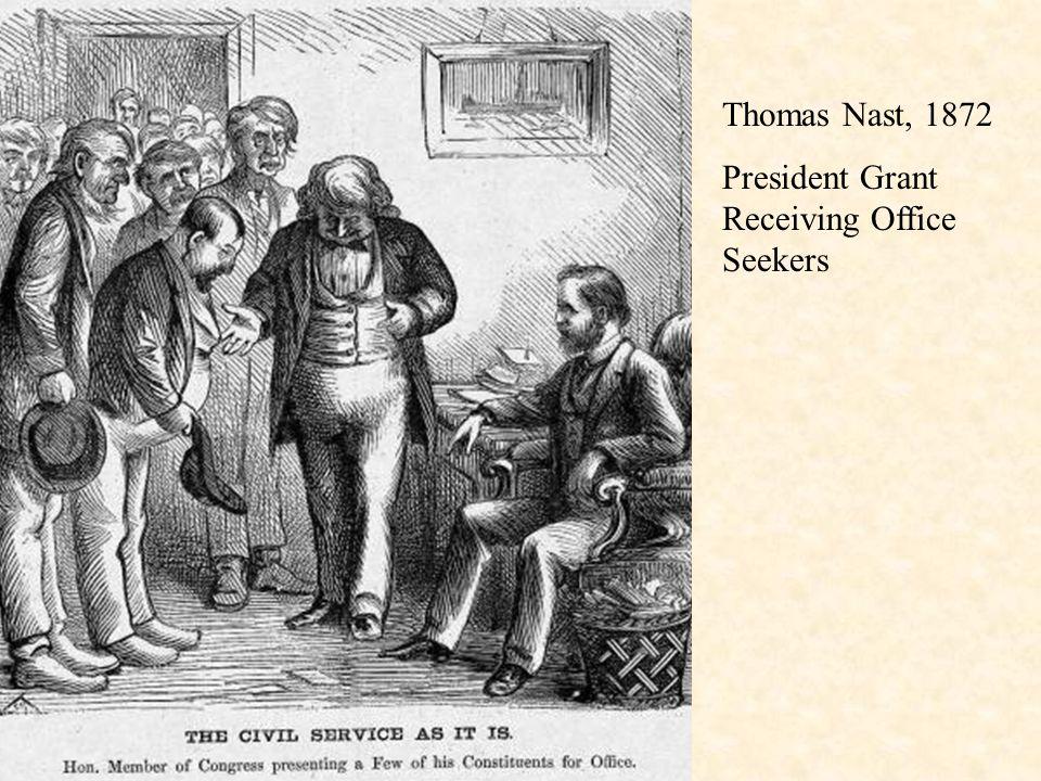 Thomas Nast, 1872 President Grant Receiving Office Seekers