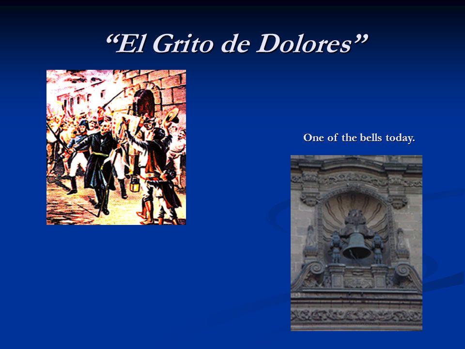 """""""El Grito de Dolores"""" One of the bells today."""