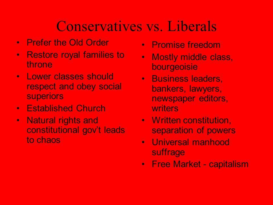 Conservatives vs.