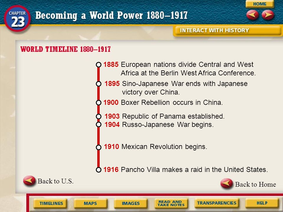 Main Idea Why It Matters Now The United States expanded its interest in world affairs and acquired new territories.