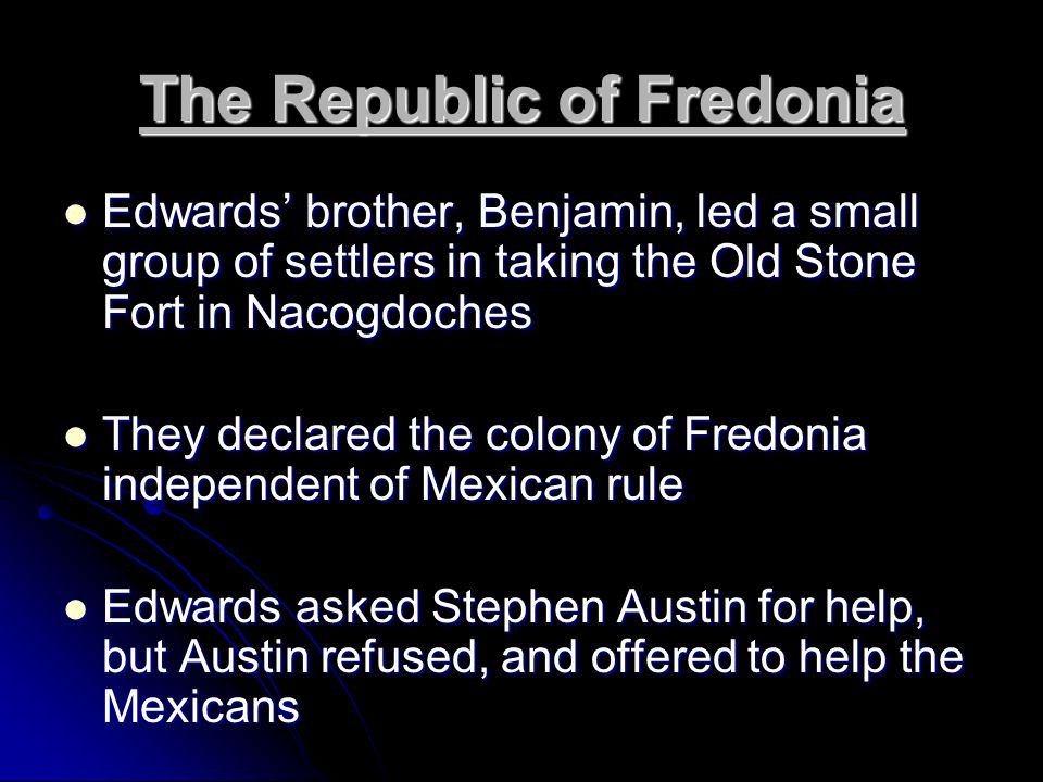 Question: Why do you think Austin refused to help or support the Freedonian revolt.