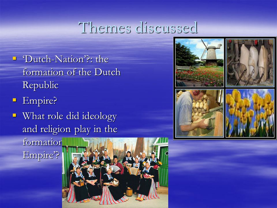 A Nation: what does Dutch Mean.