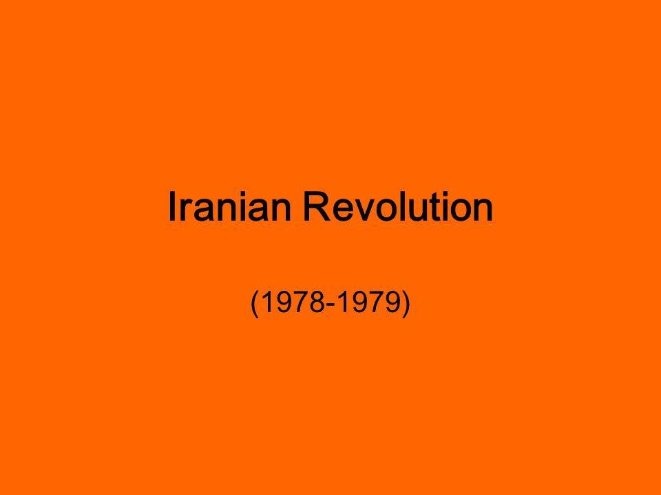 Iranian Revolution/ Islamic Revolution WHY did the Iranian Revolution start?.