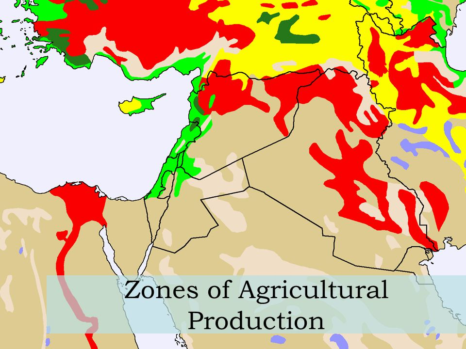 Zones of Agricultural Production