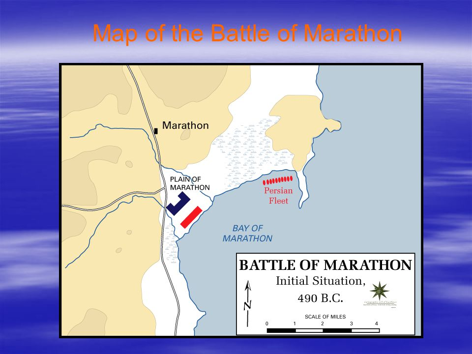 Map of the Battle of Marathon