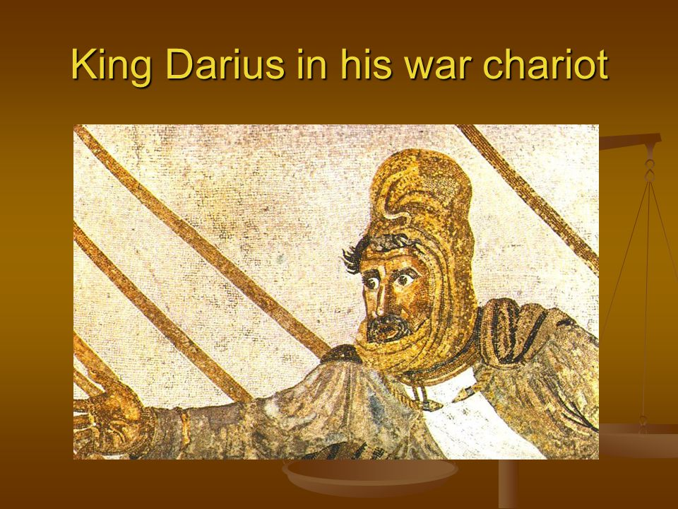 King Darius in his war chariot