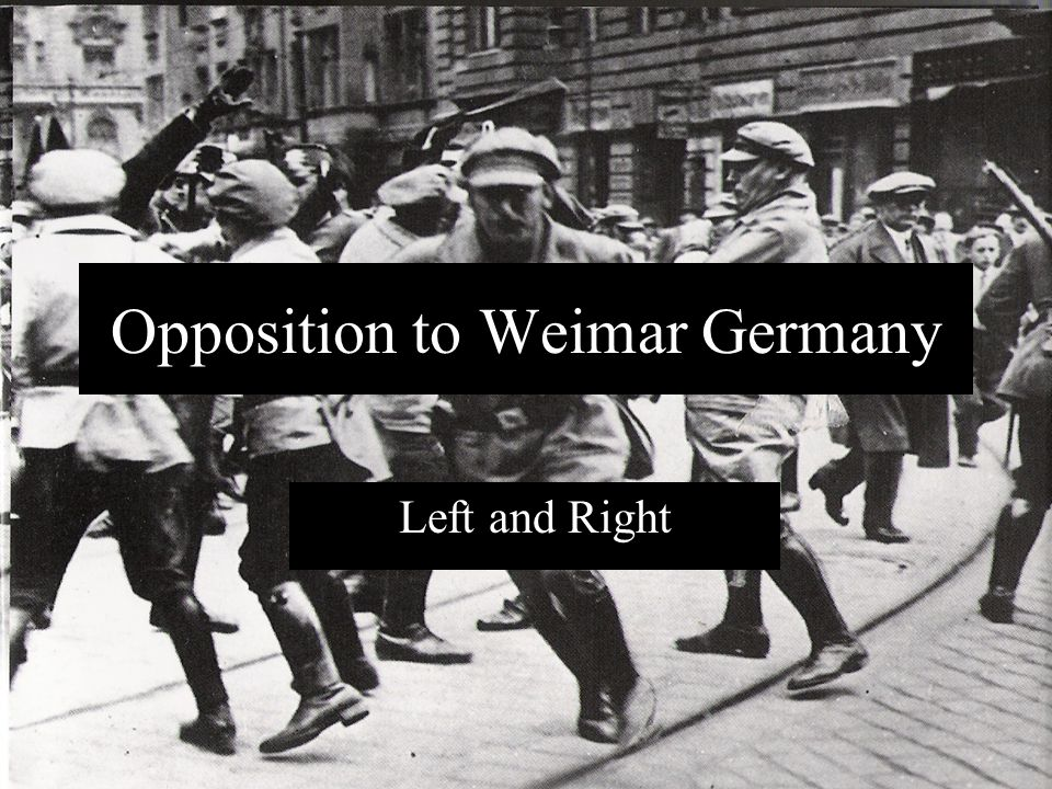 Opposition to Weimar Germany Left and Right