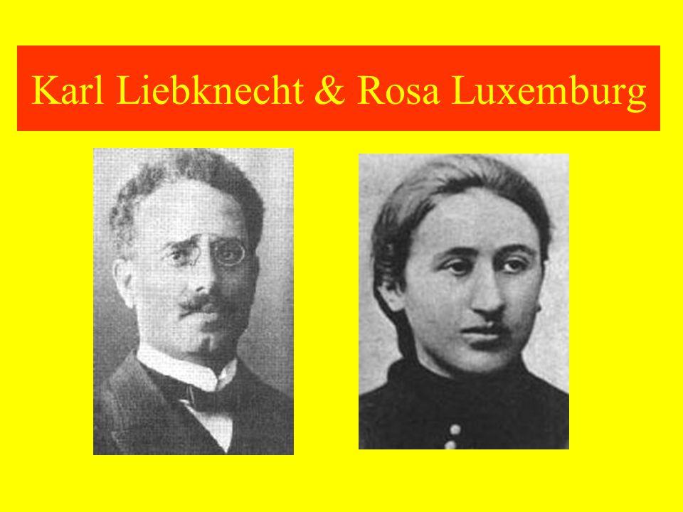Karl Liebknecht & Rosa Luxemburg