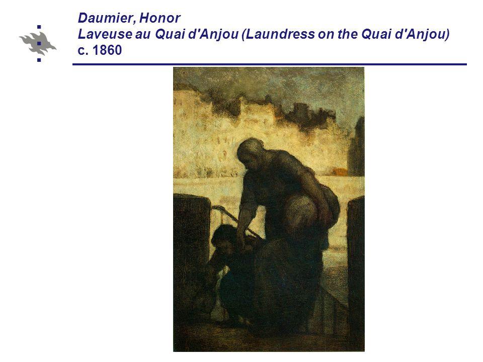 Daumier, Honor Laveuse au Quai d Anjou (Laundress on the Quai d Anjou) c. 1860