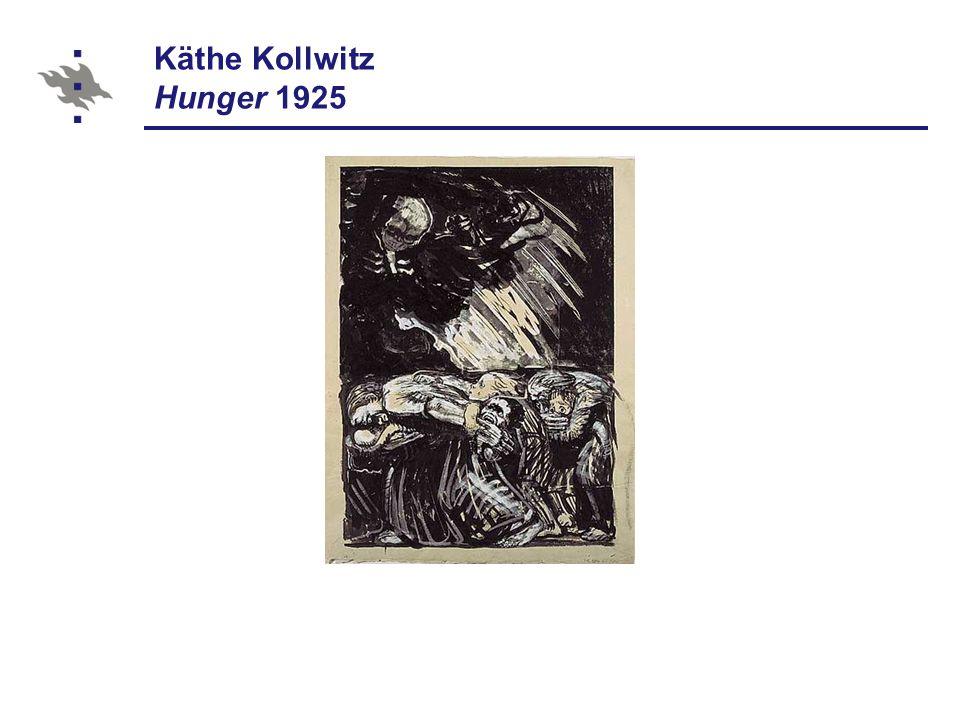 Käthe Kollwitz Hunger 1925
