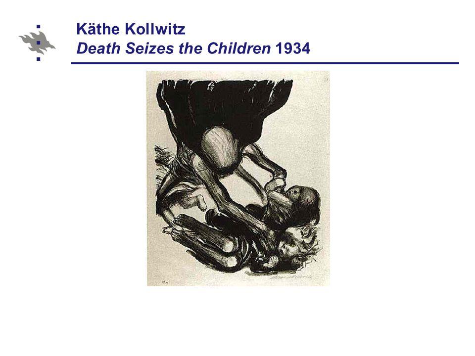 Käthe Kollwitz Death Seizes the Children 1934