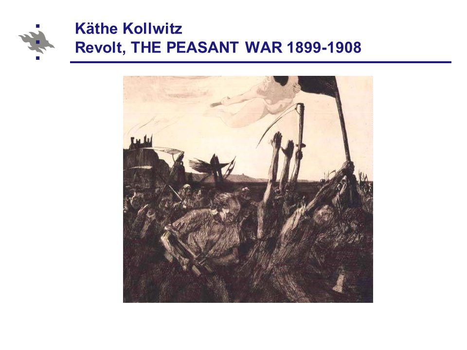 Käthe Kollwitz Revolt, THE PEASANT WAR 1899-1908