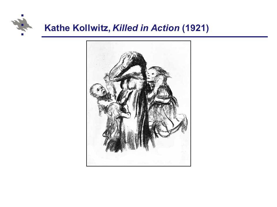 Kathe Kollwitz, Killed in Action (1921)
