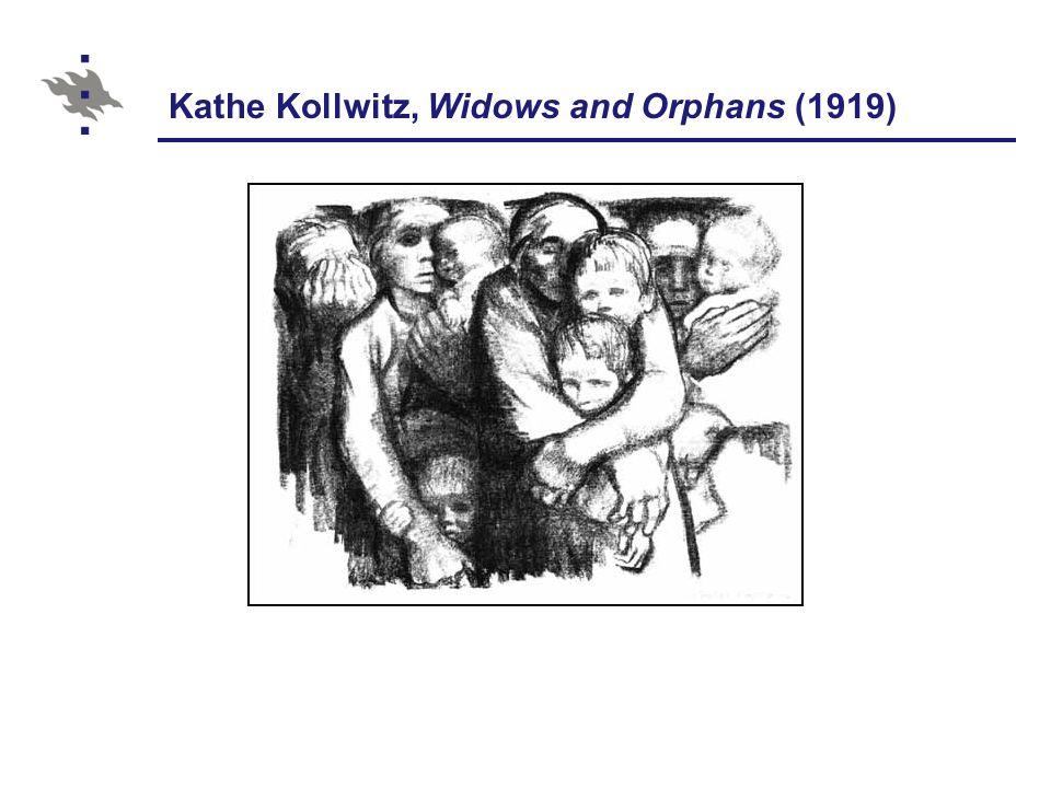 Kathe Kollwitz, Widows and Orphans (1919)