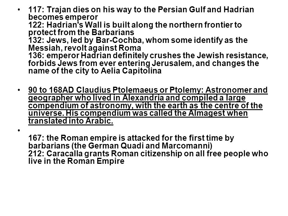312: Constantine becomes emperor 313: Constantine ends the persecution of the Christians (edict of Milano) 313: Constantine recognizes the Christian church 324: Constantine I founds a new city, Constantinople (Byzantium) 330: Constantine I moves the capital of the Roman empire to Constantinople (Byzantium) 325: First Council of Nicea - Decide basic beliefs of Christianity 337: after Constantine s death, his sons split the empire: Constantine II (Spain, Britain, Gaul), Constans I (Italy, Africa, Illyricum, Macedon, Achaea) and Constantius II (the East) 356: Roma has 28 libraries, 10 basilicas, 11 public baths, two amphitheaters, three theaters, two circuses, 19 aqueducts, 11 squares, 1,352 fountains, 46,602 insulae (city blocks) 359: Constantinople becomes the capital of the Roman empire 380: Theodosius I proclaims Christianity as the sole religion of the Roman Empire 393: Theodosius forbids the Olympic Games because pagans and shuts down the temple of Zeus at Olympia 395: Theodosius divides the Roman empire in the Western and Eastern Empires, with Milano and Constantinople as their capitals