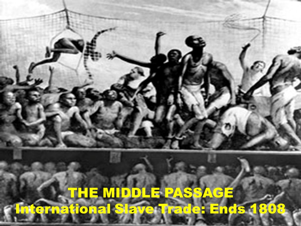 THE MIDDLE PASSAGE International Slave Trade: Ends 1808