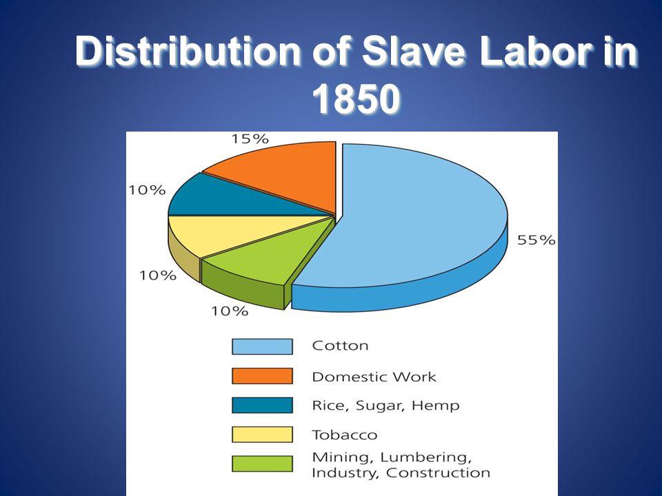 Distribution of Slave Labor in 1850