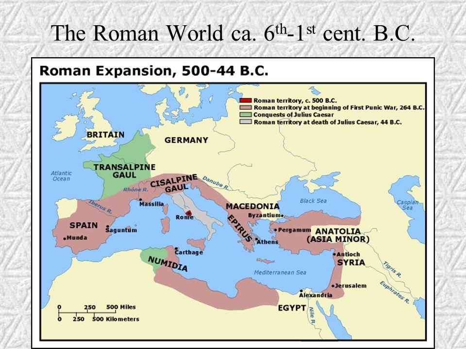 I Roman Conquest A. Northern Italy (Gallia Cisalpina)