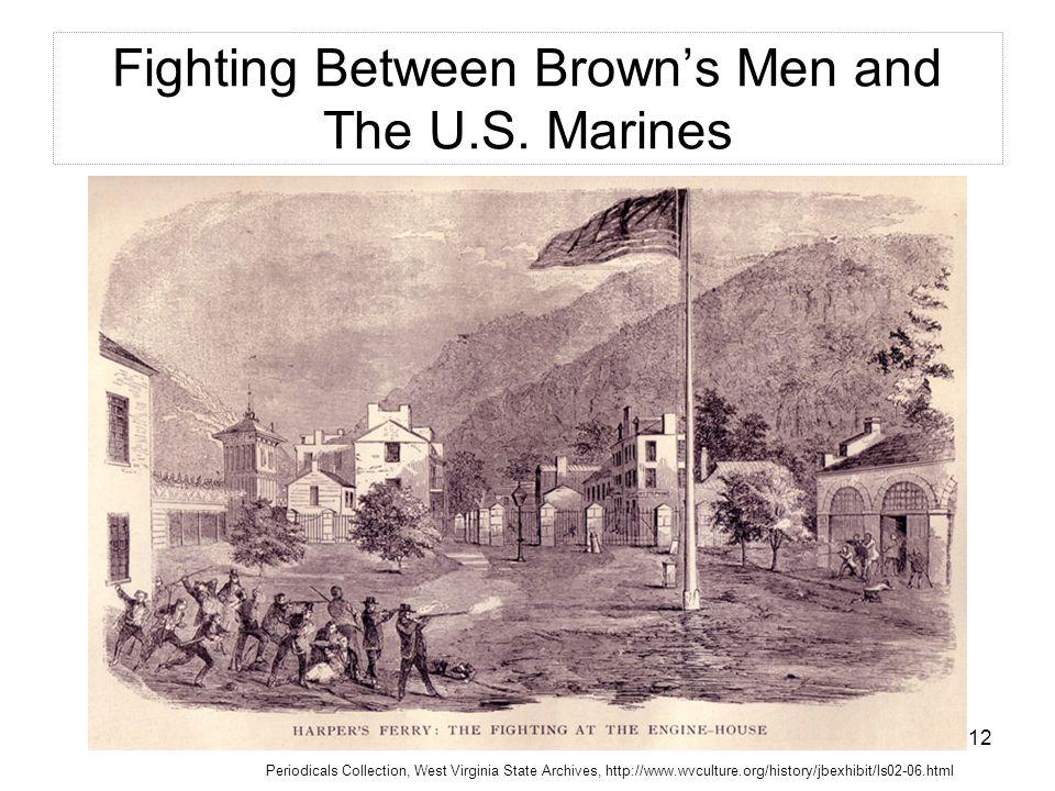 12 Fighting Between Brown's Men and The U.S.