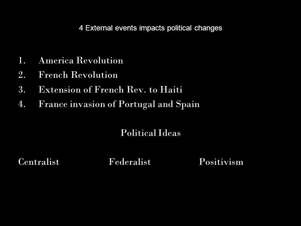 1825, all Spanish colonies independent Simon Bolívar Creole, Visionary, Revolutionary, & Liberator Independence movement, 1810 1817-1822, victory Grand Columbia Venezuela, Colombia, Ecuador 1830, split José de San Martín Liberator of Spanish South America.