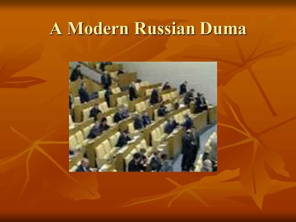 A Modern Russian Duma