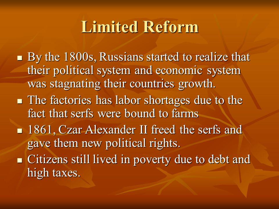 Czar Alexander II freed the serfs
